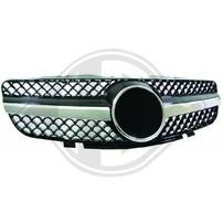 Mercedes R230 01-06 Решетка радиатора с хром полосками SL Look