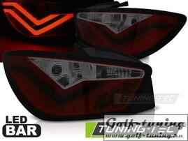 Seat Ibiza 6J 3D 08-12 Фонари светодиодные, красно-тонированные Led bar design