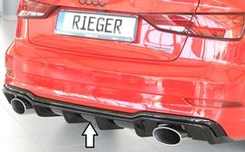 Audi A3/S3 8V Седан/Кабрио 16- Накладка на задний бампер/диффузор глянцевая