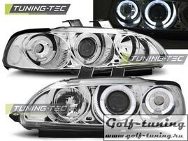 Honda Civic 91-95 2D/3D Фары Angel eyes хром