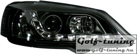 Opel Astra G Фары Devil eyes, Dayline черные