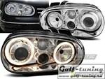 VW Golf 4 Фары Angel eyes хром