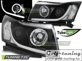 Chevrolet Cruze 09-12 Фары TUBE LIGHT черные