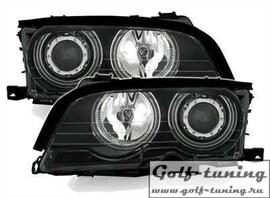 BMW E46 Купе/Кабрио 99-03 Фары с линзами и ангельскими глазками черные