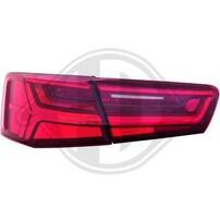 Audi A6 C7 11-14 Седан Фонари светодиодные, красно-белые, с динамическим поворотником