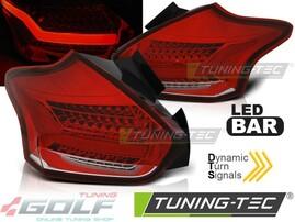 Ford Focus 3 Хэтчбэк 15- Фонари lightbar design красно-белые с бегающим поворотником