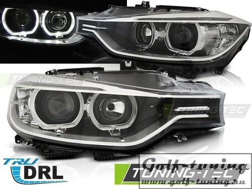 BMW F30/F31 11-15 Фары angel eyes led черные