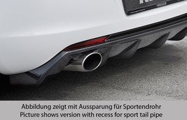 Opel Astra J 09-12 Накладка на задний бампер Carbon Look