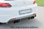 VW Scirocco 08- Глушитель 4x76mm