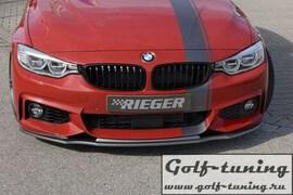 BMW F32/F33/F36 12- Накладка на передний бампер черная