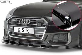 Audi A6 C8 4K S-Line / S6 C8 4K 18- Накладка на передний бампер глянцевая
