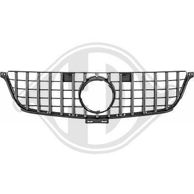 Mercedes W166 11-15 Решетка радиатора GT-OPTIK с хром полосками