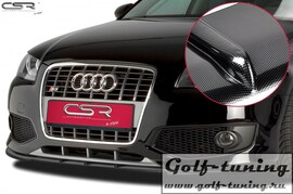 Audi S3 8P 03-12 Накладка на передний бампер Cupspoilerlippe carbon look