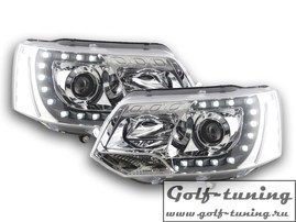 VW T5 GP 09-15 Фары Devil eyes, Dayline хром