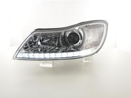 Skoda Octavia 09- Фары с LED габаритами хром