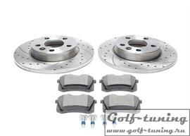 VW Sharan/T4 Комплект спортивных тормозных дисков и колодок