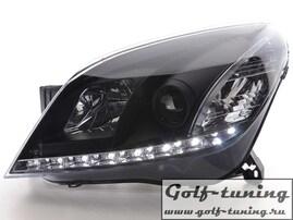 Opel Astra H Фары Devil eyes, Dayline черные