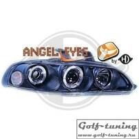 Honda Civic 92-95 2D/3D Фары с линзами и ангельскими глазками черные