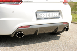 VW Scirocco 3 08-14/14- Накладка на задний бампер carbon look