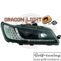 Peugeot 306 97-01 Фары Devil eyes, Dayline черные с светодиодным поворотником