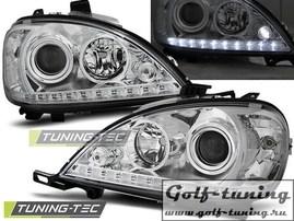 Mercedes W163 98-01 Фары Devil eyes, Dayline хром