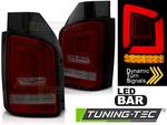 VW T5 09-15 Фонари led bar красно-тонированные с бегающим поворотником