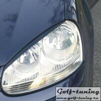VW Golf 5 Ресницы на фары