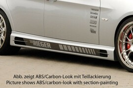 BMW E90/E91 04-11 Накладки на пороги Carbon Look
