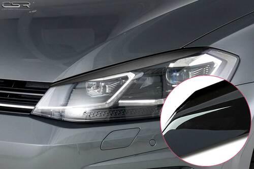VW Golf 7 Facelift 17- Реснички на фары глянцевые