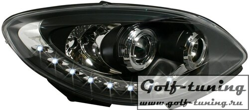 Renault Twingo 07- Фары Devil eyes, Dayline черные