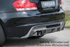 BMW E82/E88 07- Накладка на задний бампер/диффузор глянцевая