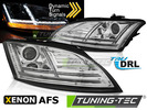 Audi TT 8J 10-14 Фары lightbar design хром под AFS ксенон