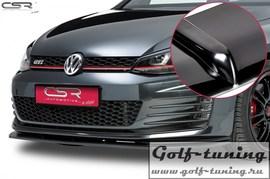 VW Golf 7 GTI 13-17 Накладка на передний бампер глянцевая