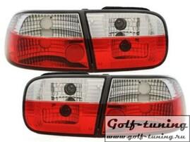 Honda Civic 92-95 2D+4D Фонари красно-белые