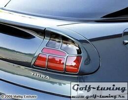 Opel Tigra 94-00 Накладки на фонари carbon look