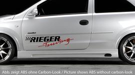 Opel Corsa C 3Дв 00-06 Накладки на пороги Carbon Look