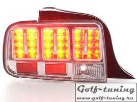 Ford Mustang 05-09 Фонари светодиодные, хром