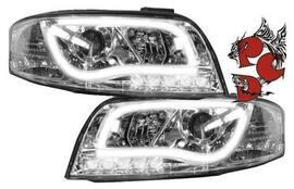 Audi A6 01-04 Фары Light-Tube хром