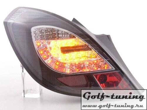 Opel Corsa D 3Дв 06-14 Фонари светодиодные, черные
