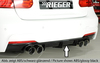 BMW F30/F31 12-15/15- Накладка на задний бампер/диффузор 335i-/340i-Look carbon look