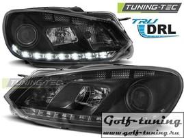 VW Golf 6 Фары с линзами черные