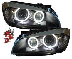 BMW E84 09-12 Фары с линзами и ангельскими глазками черные