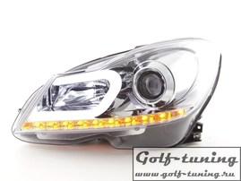 Mercedes W204 11-14 Фары lightbar design хром с светодиодным поворотником