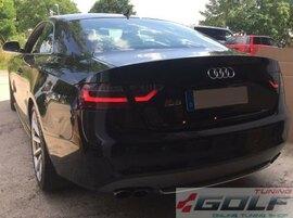 Audi A5 8T 8F 07-11 Фонари светодиодные, красно-тонированные