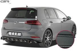 VW Golf 7 TCR 17- Накладка на задний бампер Carbon look