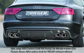 Audi A5 S-Line 11-16 Sportback Накладка на задний бампер/диффузор