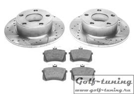 Audi 100/200/Quattro Комплект спортивных тормозных дисков и колодок