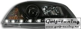 Seat Ibiza 6L 02-08 Фары Devil eyes, Dayline черные