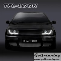 VW Golf 3 Фары Devil eyes, Dayline черные