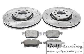 Opel Astra F/G/H/Combo/Corsa D/Meriva/Zafira A/B/C/Saab 9-3/9-5 Комплект спортивных тормозных дисков и колодок